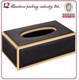 Wood Leather Tissue Box Facial Paper Tissue Box Car Tissue Tin Box (Hx06)