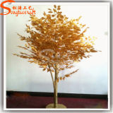 Factory Direct Dry Branches Artificial Gold Ficus Banyan Tree