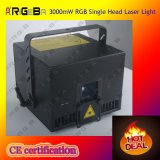 3000MW RGB Single Head Laser Light for DJ Nightclub Stage
