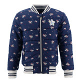 Baby Cotton Padded Down Winter Wholesale Windbreaker Waterproof Children Custom Fashion Designer Navy Unicorn Print Color Warm Bomber Jacket Coat of Girl Kids
