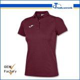 Custom Dry Fit Maroon Tc Cheap Women's Polo T Shirts