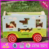 2016 Wholesale Children Wooden Aniaml Truck Toy W05b156