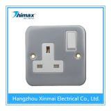 13A 1gang Metal Wall Control Switch Socket Outlet