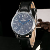 New Arrival Fashion Dial Quartz Leather PU Watch for Man with Cheap Price