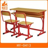 Study Double Table and Chair Set of Classroom Furniture