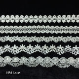 High Made Lace Factory Trimming, White Floral Circle Trimming Lace Trim L090