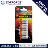 1.5V Digital Alkaline Battery Dry Battery with BSCI (LR03-AAA 16PCS)
