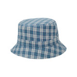 Custom Print Pattern Canvas Bucket Cap with Leather Patch