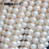 7-8mm Ab Quality Cheap White Round Natural Genuine Cultured Freshwater Pearl Strings (XL180017)