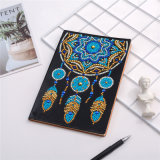 Feather Necklace DIY Special Shaped Diamond Notebook Kits Handmade Jewelry Notebook Diamond Embroidery Art