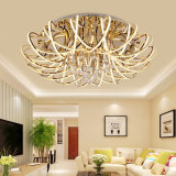 32 Lights Decorative Large Size K9 Crystal Acrylic Morden Hotel Gold LED Ceiling Pendant Lighting