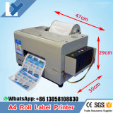 A4 Inkjet Roll Barcode Label Printer Stable Quality A4 Adhesive/PVC/Vinyl Label Sticker Printing Machine Dye Ink 6colors Roll Label Sticker Printer