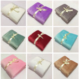100% Polyester Super Soft Flannel Throw Blanket Plain Dyed Blanket Baby Swaddle Blanket