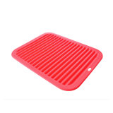 "Big Silicone Trivet 9"" X 12"" for Hot Dish and Pot Hot Pads Counter Mat Heat Resistant Table Dish Drying Mat or Placemats Insulated Flexible Non Slip Esg12150"