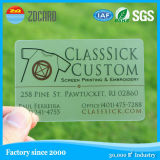 Design Frosted Clear Transparent PVC Card for Business