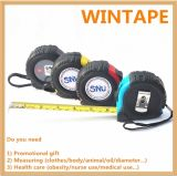 Hot Selling ABS and Rubber Coated Measure Tape Ruler/Steel Tape Measure with Button