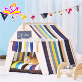 Stylish Canvas Folding Dog Tent for Little Puppy and Cats W06f073