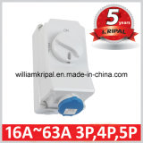 IP44 16A 3p Wall Mounted Interlocked Outlet