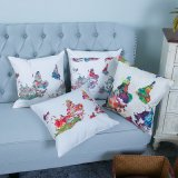 Digital Print Decorative Cushion/Pillow with Watercolor Botanical&Floral Pattern (MX-42)