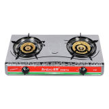 2 Burners 045mm Stainless Steel 710mm Gas Stove