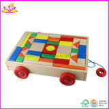 Wooden Blocks Car with 46 PCS Blocks, Can Be Pulled (W13C014)