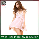 Cheap Price White Comfortable Lady Sexy Sleepwear China Factory