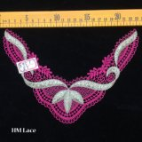 22*16cm Mesh Pink Lotus Leaf Pretty Lace Collar for Party Dress Factory Price in Guangzhou Hme957