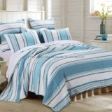 Microfiber Rotary Print Quilt in Blue (DO6109)
