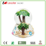 Hand-Painted Resin Craft Snow Globe with Coconut Tree Water Globe for Home Decoration and Souvenir Collection
