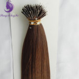 #4 Dark Brown Color Virgin Remy Nano Ring Hair Extension