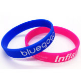 Customized Own Logo Colorful Promotional Plastic Silicone Wrist Band (XD-WB-06)