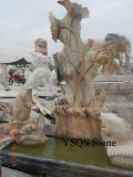 Red Marble Garden Fountain Sculpture (YS-MB-003)