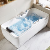 Woma Small Cheap Massage Bathtub Modern Design Whirlpool Hot Tub Right Side (Q348)