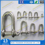 1108 High Quality Rigging Shackle Stainless Steel D Shackle