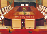 20~30 Person Large Wooden Conference Table Boardroom Meeting Table Classic Furniture (FOHSC-8015)