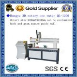 Jinan Rotary CNC Woodworking Router Ql-1200 Price for Sale