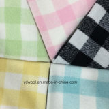 Check Napping Wool Fabric for Overcoat