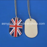 Custom UK Flag Dog Tag Necklace