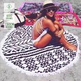 Wholesale Qualified Microfiber Printed Round Beach Towel with Tassel