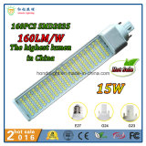 160lm/W 270 Degree Rotatable 15W G24 LED PLC Lamp with 3 Years Warranty