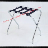 Easy Fold-up Storage Hotel Room Luggage Rack in Chrome