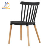 Wooden Leg Chair Home Furniture Plastic Chair with Wood Legs