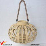 Rope Handle Antique Vintage Handmade Candle Holder Bamboo Lantern