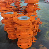 Cast Steel Body Lining ETFE Ball Valve;