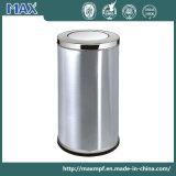 Hot-Sale Public Cheap Stainless Steel Swing-Lid Indoor Recycle Trash Bin