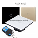 Smart Home Touch Switch, EU Standard 1 Gang 1 Class White Crystal Glass Panel, AC170~250V, LED Indicator, Touch Screen Switch
