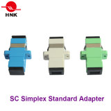 Sc Simplex Standard Plastic Fiber Optic Adapter