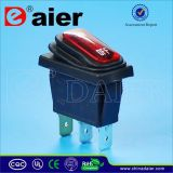 Red Color Waterproof Rocker Switch for 12V/220V