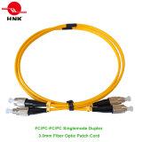 FC/PC-FC/PC Duplex Singlemode 3.0mm Fiber Optic Patch Cable