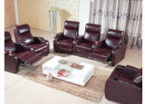 Recliner Sofa Leather Armchair Reclining Chair Cinema Sofa Set Adjustable Footrest